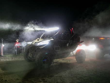 After the night stage of the Breslau rally - a worrying message from the CFMOTO Racing Team