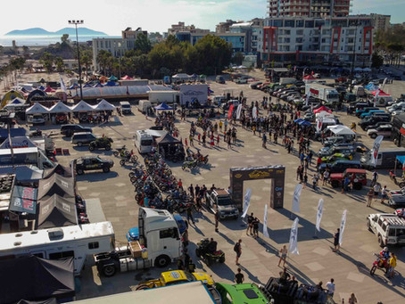 The CFMOTO Factory Racing Team started the Albanian rally from a prologue at the seaside