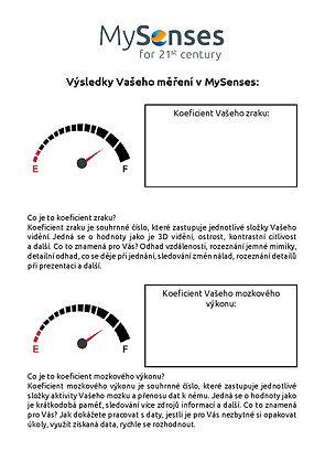 výsledky z MySenses