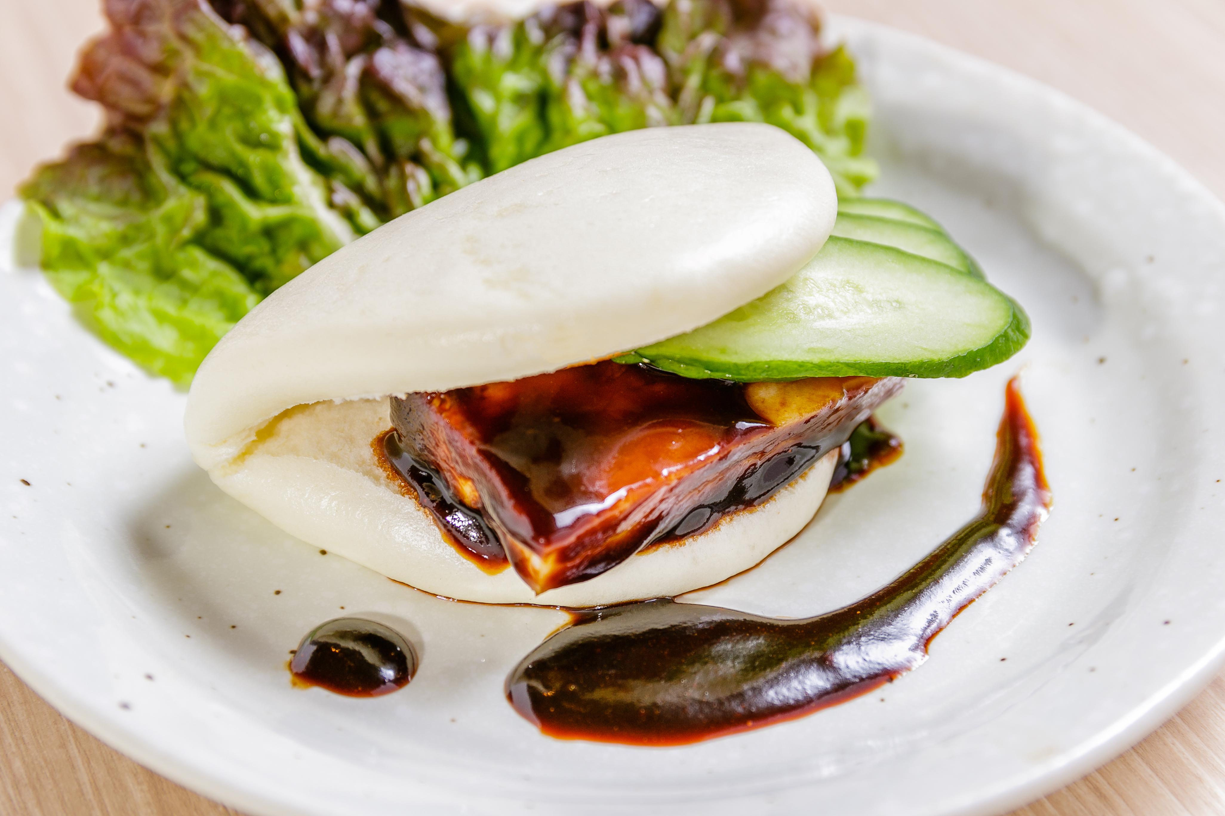 豚角煮の中華サンド