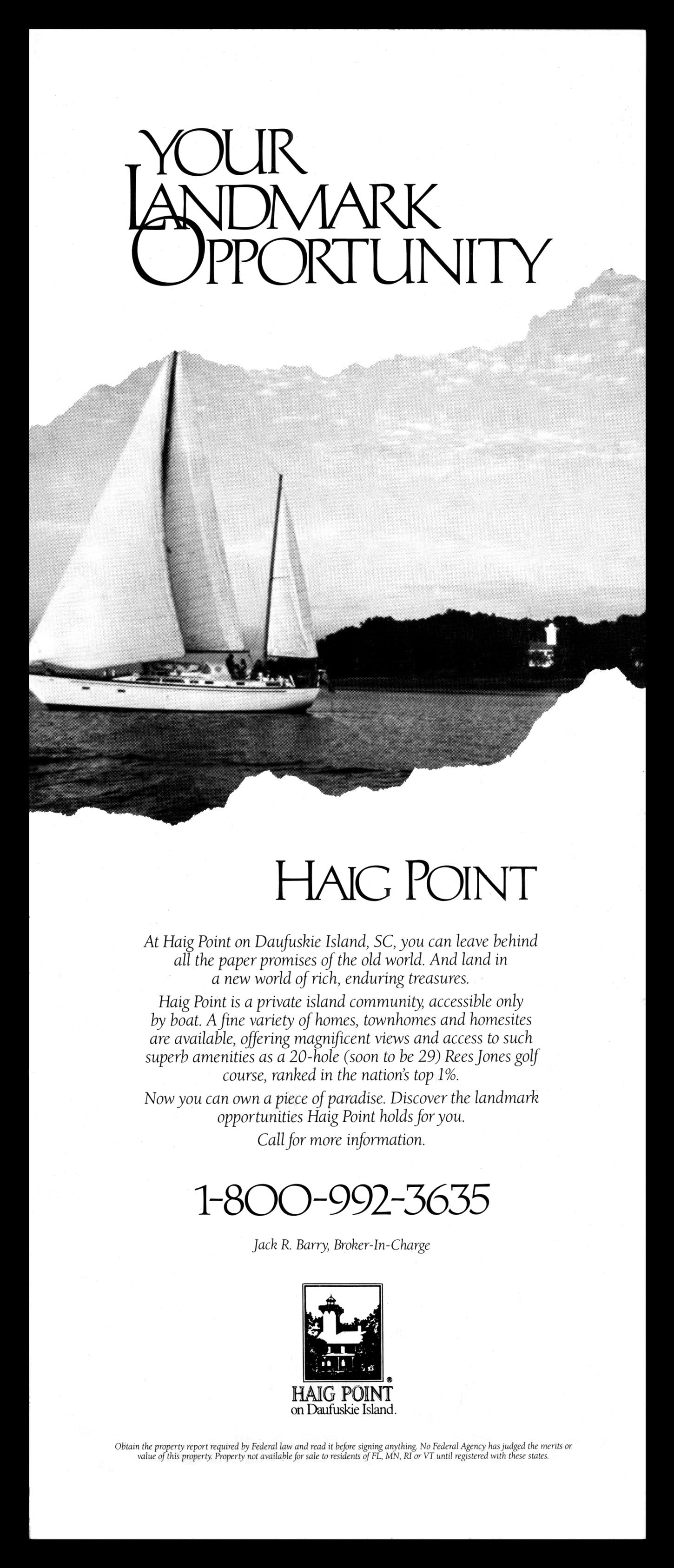 Haig Point Ad