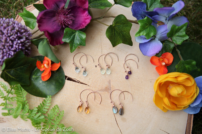 Boucles d'oreilles Athéna en rose gold