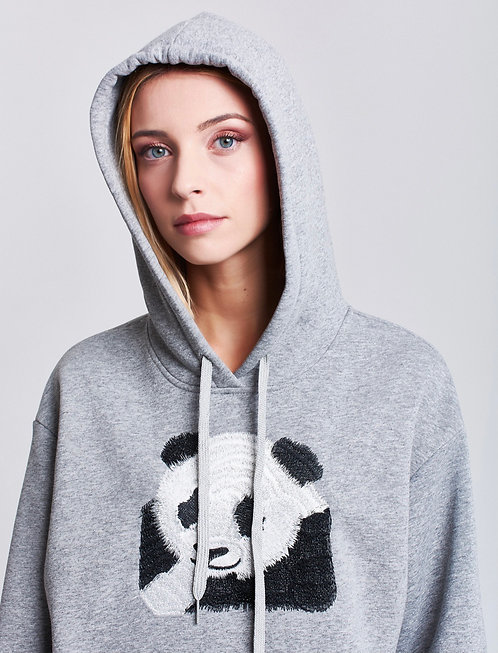 Felpa Panda 🐼 Grigia