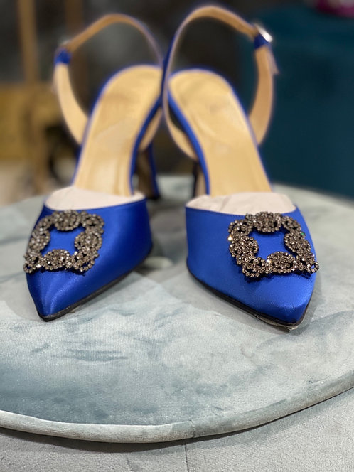 Slingback Vanity Blue Elettrico 90