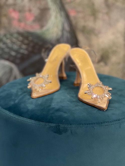 Sling back Cinderella Verde VINILE TRASPARENTE