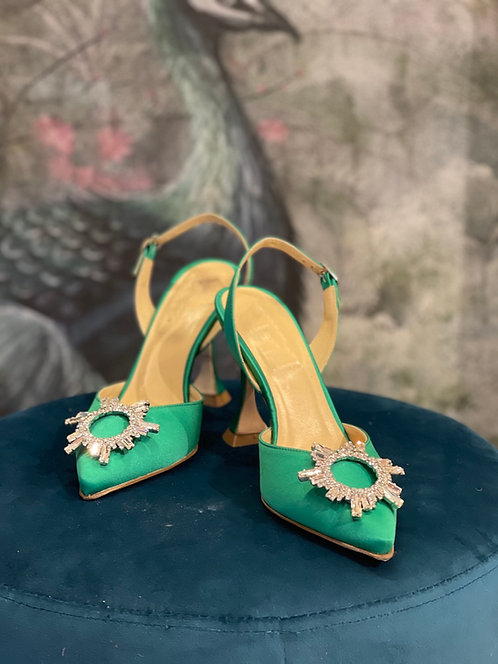 Sling back Cinderella Verde Smerarlo