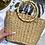 Thumbnail: Borsa in paglia manico bamboo