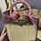 Thumbnail: Borsa un paglia con manico a cerchio