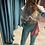 Thumbnail: Satin Tie-Dye cropped hoodie sweatshirt