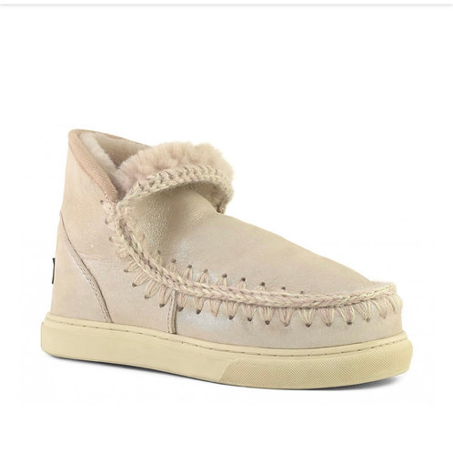 Mou Eskimo sneakers microglitter cipria
