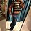 Thumbnail: Maglione a righe con banda in Lurex