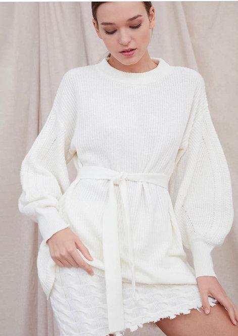 Maglia/abito lunga con cintura