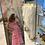 Thumbnail: Abito midi a quadri con pompom BERENICE