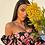 Thumbnail: Abito con manica a sbuffo stampa fiori