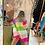 Thumbnail: Maglia ad abito a righe multicolor