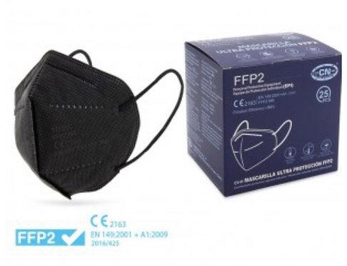 Mascherina FFP2 NERA con certificato CE europeo