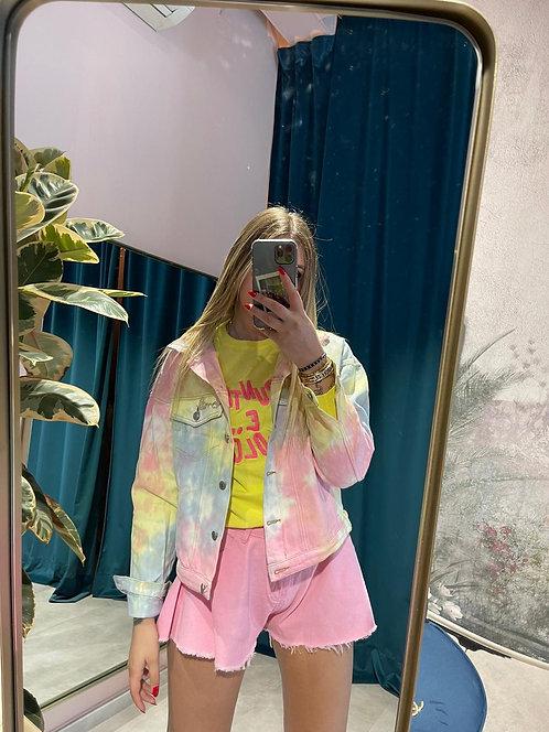 Pantaloncino a farfalla in jeans