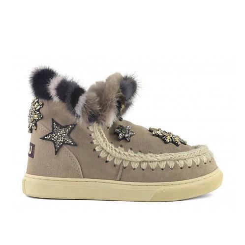 Mou Eskimo Sneakers con patch e visone