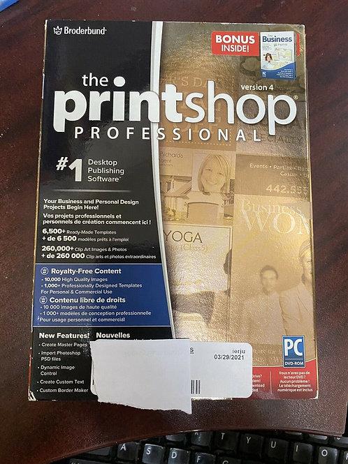 Broderbund The Printshop Professional v4 software
