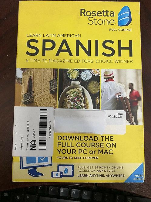 Rosetta Stone Full Course Spanish Software
