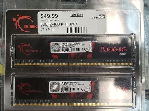 Gskill Aegis 8GB DDR4 Ram Kit (2x 4GB)