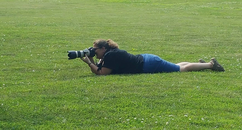 Me in my favorite pose for kiddos...belly shooting at Rock Springs Park, in O'fallon Illinois! Photo cred...Catina Frisbee