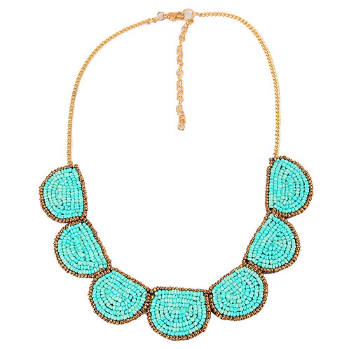 TURQUOISE PEARLS NECKLACE