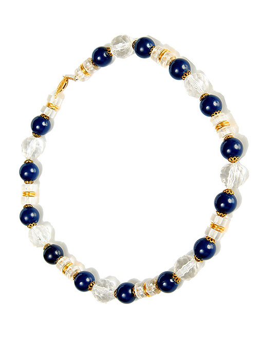 BLUE & CLEAR BEADS