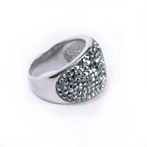 SPARKLING STEEL RING