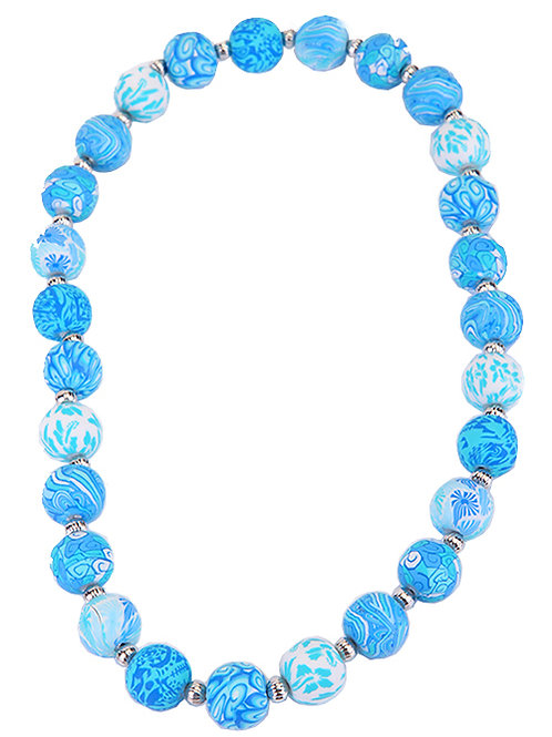 BLUE BUBBLE POP NECKLACE