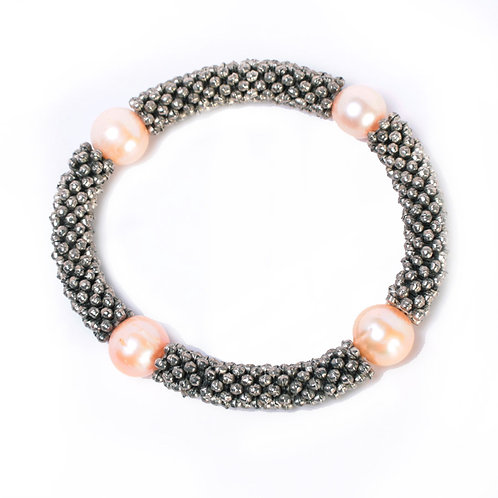 BRAID BAND WITH PEARLS