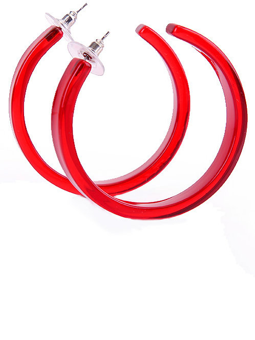 HOOP EARRINGS IN SCARLET