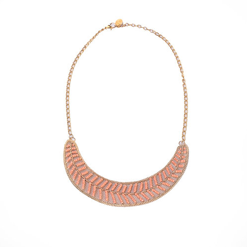 GOLDEN AND ORANGE NECKLACE