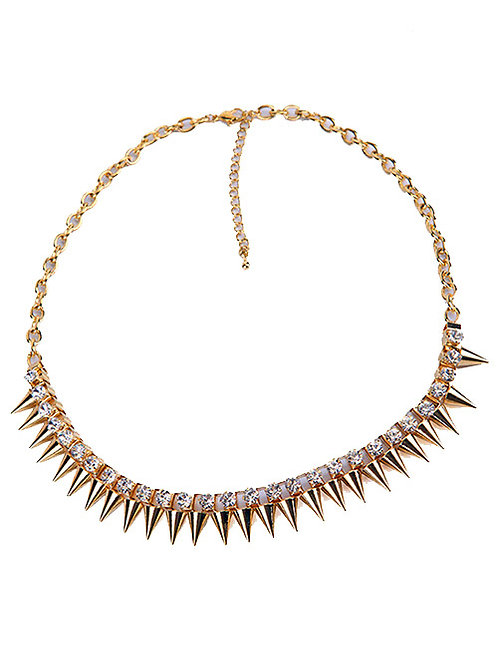 ROCKER CHIC SPIKED NECKLACE