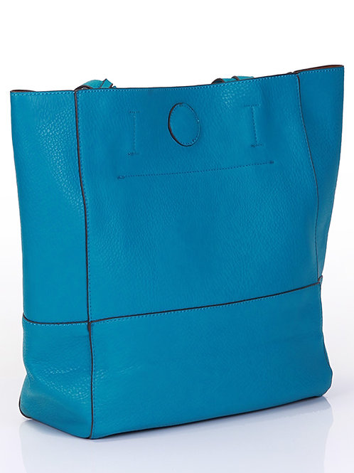 BLUE OVER SIZED BAG