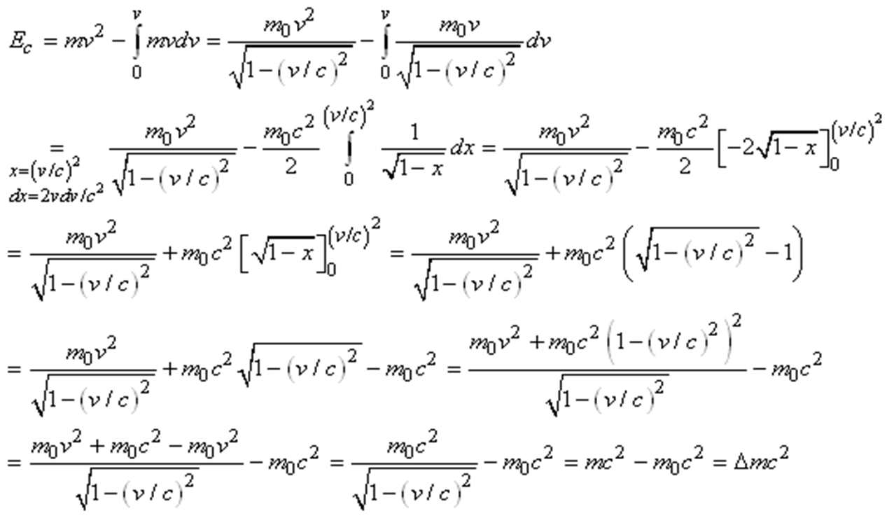 relativite restreinte formule