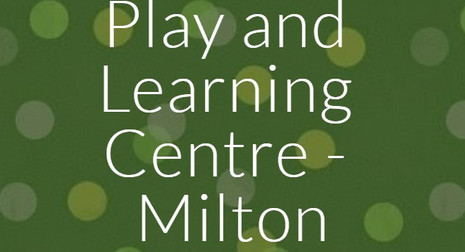 Play and Learning Centre Website