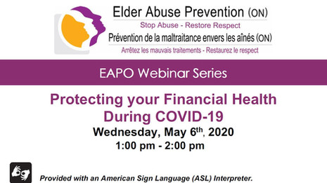Protecting your Financial Health During COVID-19
