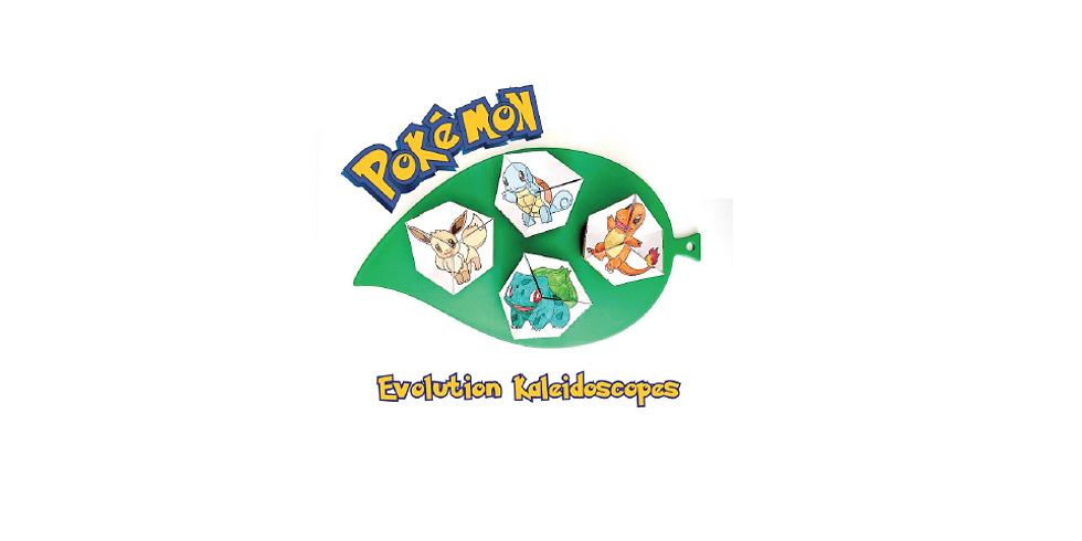 Make 'n Take Pokemon Evolution Kaleidoscopes