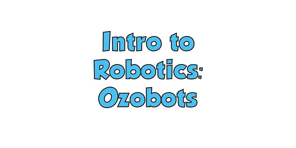Intro to Robotics: Ozobots