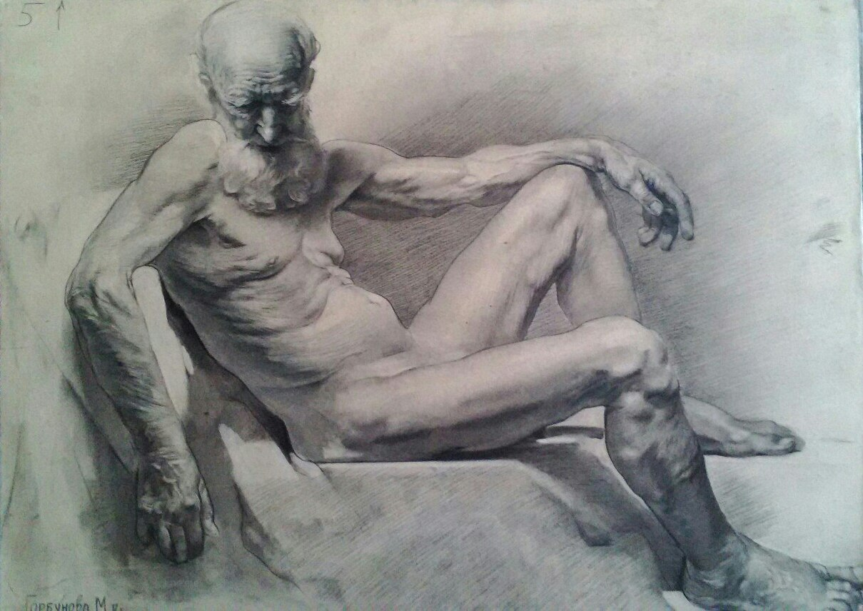 Рисунок, штудия 2014