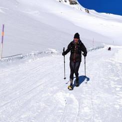 Winter speed hiking Grindelwald