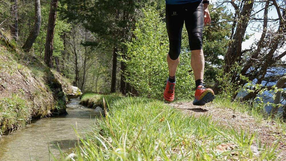 Trail run along the beautiful Nirwäch Suone towards the village of Ausserberg
