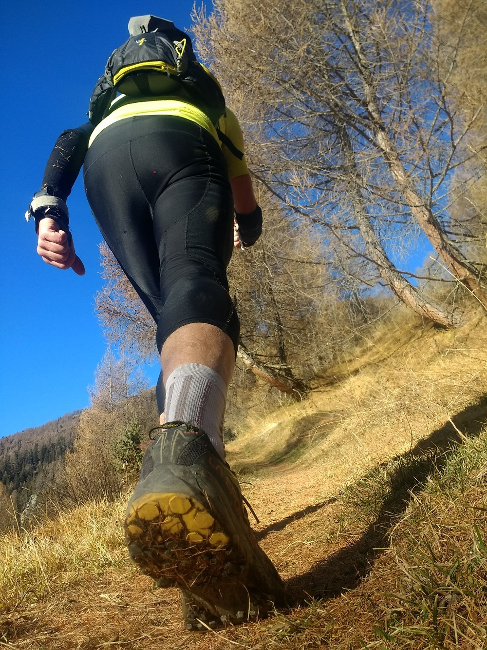 La Sportiva Akyra in action on the trails
