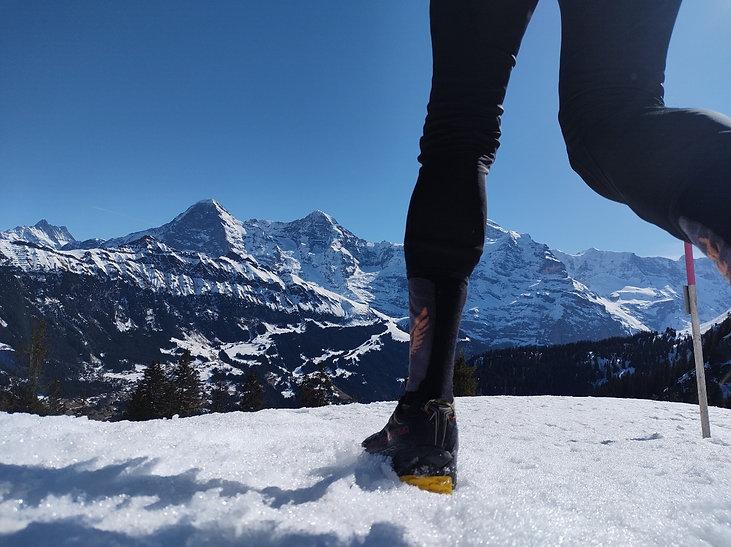 Winter Trail running Lobhorn