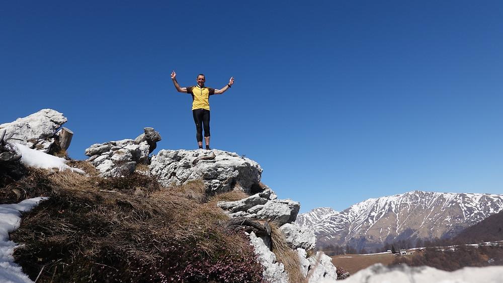 Denti della Vecchia with TrailPetsch. Trail running Switzerland.
