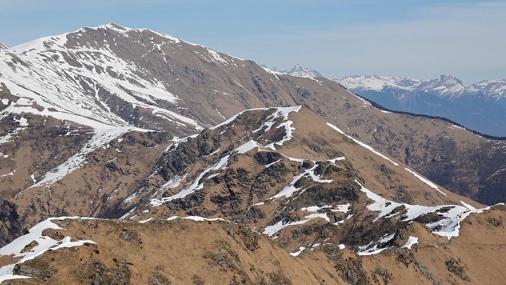 Sentiero Lago di Lugano ridge and Monte Gradiciolli