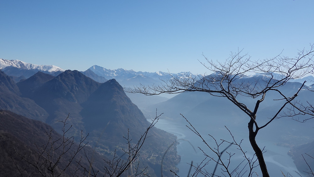 Sasso Rosso, view to Italy
