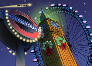 Jingles Flies over London, England