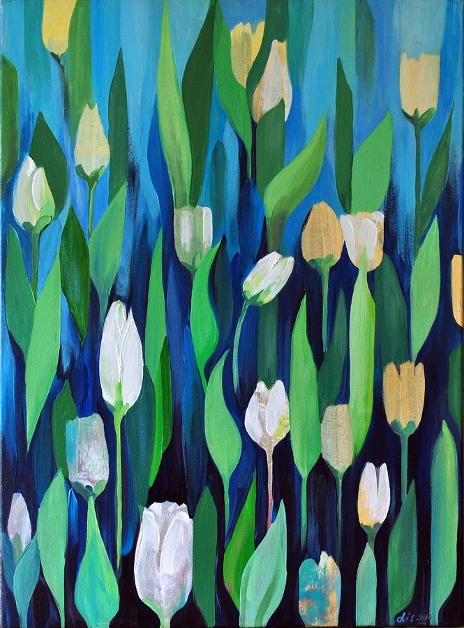 """""""Тюльпаны"""" холст акрил, 2014"""